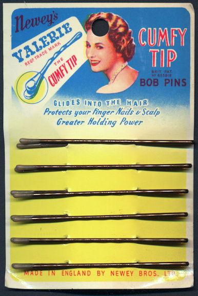 #CS387.1 - Colorful Carded Newey's Valerie Cumfy Tip Bob Pins