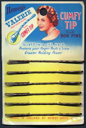 #CS387.1 - Colorful Carded Newey's Valerie Cumfy Tip Bob Pins