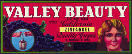 #ZLSG051 - Valley Beauty Grape Crate Label