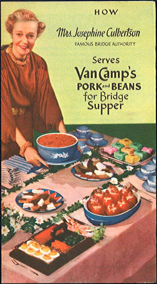 #ZZZ175  - Van Camp's Pork and Beans Brochure Featuring Mrs. Josephine Culbertson