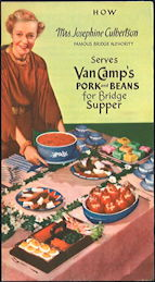 #ZZZ175  - Van Camp's Pork and Beans Brochure Featuring Mrs. Josephine Culbertson