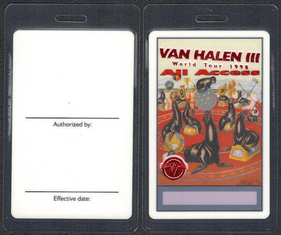 ##MUSICBP0810 - Scarce Van Halen OTTO Laminated All Access Backstage Pass from the 1998 Van Halen III World Tour
