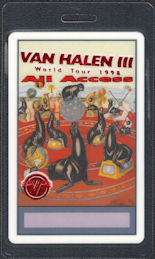 ##MUSICBP0810 - Scarce Van Halen OTTO Laminated All Access Backstage Pass from the 1998 Van Halen III World Tour