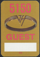 ##MUSICBP0461 - Rectangular Van Halen Cloth OTTO Backstage Pass from the 1986 5150 Tour