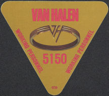 ##MUSICBP0131 - Triangular Van Halen Cloth Backstage Pass from the 1986 5150 Tour