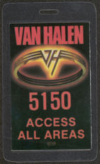 ##MUSICBP0402  - 1986 Van Halen Laminated Backstage Pass from the 5150 Tour