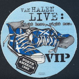 ##MUSICBP0415 - Van Halen Cloth Backstage Pass from the 1993 Right Here Right Now Tour
