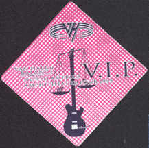 ##MUSICBP0543 - Diamond Shaped Van Halen OTTO VIP Cloth Backstage Pass from the 1995 Balance Tour