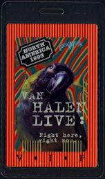 ##MUSICBP0506 - Van Halen OTTO Laminated Backstage Pass from the Right here, right now. Tour