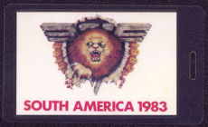 "##MUSICBP0598 - Van Halen Laminated OTTO Backstage Pass from the ""South America 1983"" Tour"