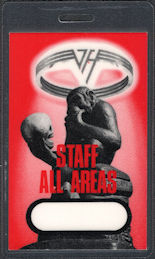 ##MUSICBP0805 - Super Rare Van Halen OTTO Laminated Staff Pass from the OU812 Tour