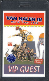 ##MUSICBP0809 - Scarce Van Halen OTTO Laminated VIP Guest Backstage Pass from the 1998 Van Halen III World Tour