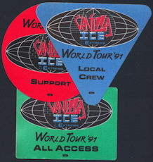 ##MUSICBP0195 - Vanilla Ice OTTO Backstage Pass from the 1991 Vanilla Ice Extreme Tour - as low as $2.00 each