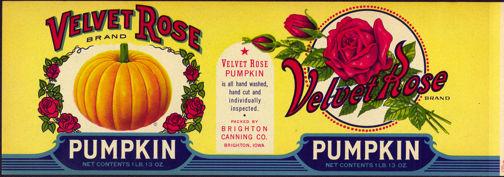 #ZLCA133 - Large Velvet Rose Pumpkin Can Label