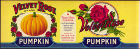 #ZLCA133 - Large Velvet Rose Pumpkin Can Label