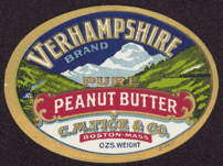 #ZBOT127 - Verhampshire Pure Peanut Butter Jar Label