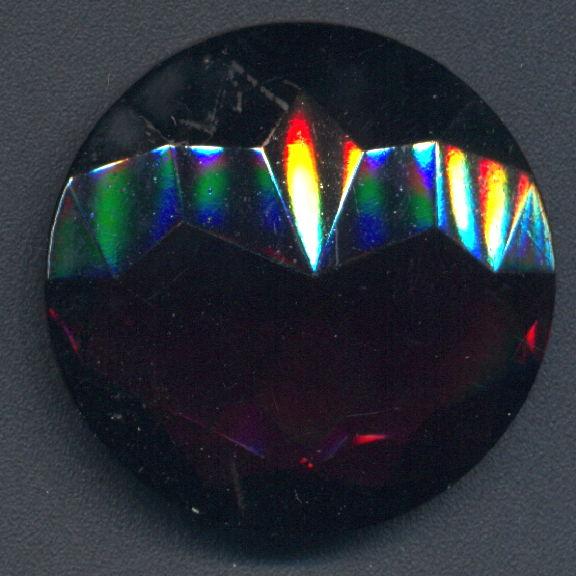 #BEADS0832 - Huge 32mm Czech Deep Amethyst Glass Rhinestone
