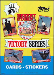 #ZZA258 - Topps Desert Storm Promotional Poster for Victory Series Cards and Stickers