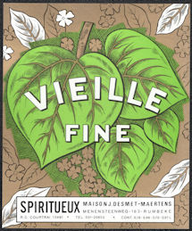 #ZLW168 - Vielle Fine European Liquor Bottle Label