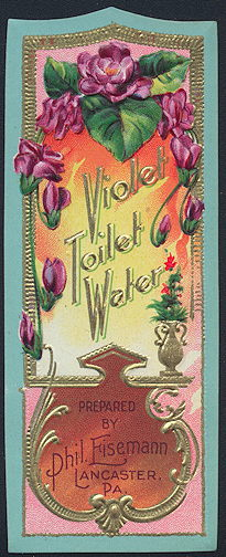 #ZBOT182 - Violet Toilet Water Bottle Label - As low as 50¢ each