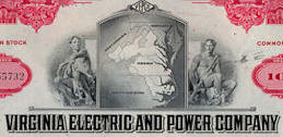 #ZZCE068 - Virginia Electric and Power Company Stock Certificate