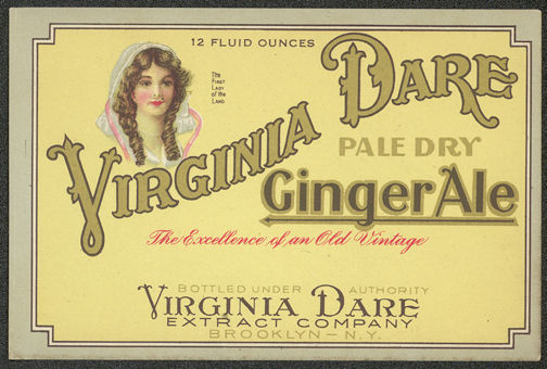 #ZLS133 - Early Virginia Dare Extract Company Ginger Ale Label