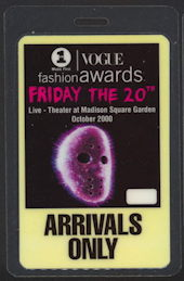 #MS281 - Laminated Backstage Pass for the 2000 Vogue Fashion Awards with Jason Mask - as low as $1.50 each