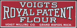 #SIGN125 - Voigt's Royal Patent Flour Paper Window Sign