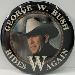 #PL362 - Rare George W. Bush Rides Again Celebration Pinback from the 2004 Election