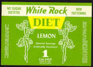 #ZLS174 - White Rock Diet Lemon Soda Bottle Label