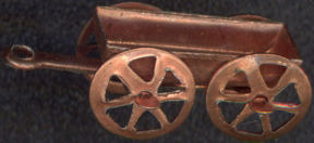 #BEADSC0225 - Copper Wagon Charm with Moving Wheels