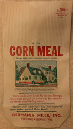 #CS424 - Corn Meal Bag Picturing the Home of Mary Washington (George's Mother)