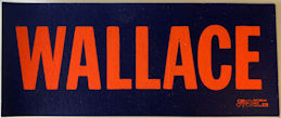 #PL354 - George Wallace Mini Bumper Sticker from the 1968 Campaign