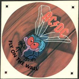 ##MUSICBP0788 - Rare AC/DC Promotional Sticker for the 1985 Fly on the Wall Album