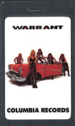 ##MUSICBP0697 - Warrant Columbia Record Company OTTO Laminated Backstage Pass from the 1990 Cherry Pie Tour