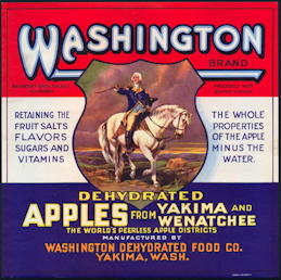 #ZLC424 - Rare Washington Dehydrated Apples Crate Label