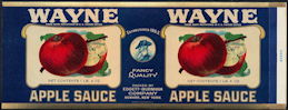 #ZLCA244 - Rare Wayne Apple Sauce Can Label - As Low as $1 each