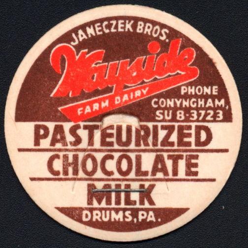 #DC195 - Janeczek Bros. Wayside Dairy Chocolate Milk Bottle Cap