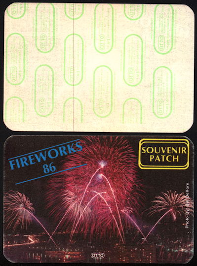 #MS280 - Souvenir Patch for 1986 Cincinnati Fireworks - Largest Display in the World - As low as 50¢