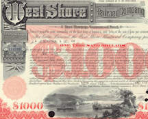 #ZZCE049 - West Shore Railroad Company Stock/Bond Certificate
