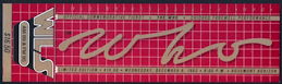 ##MUSICBP0223 - Commemorative OTTO Ticket for The Who Concert on Dec 8th 1982