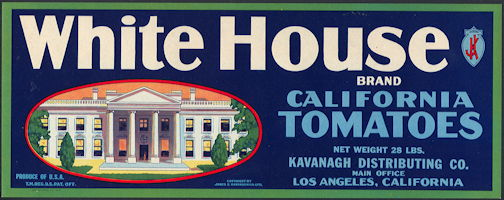 #ZLCA*048 - White House Tomatoes Crate Label