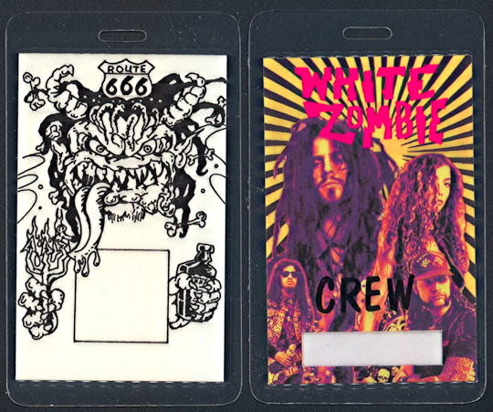 ##MUSICBP0230  - White Zombie (Rob Zombie) Laminated Backstage pass from the La Sexorcisto Tour