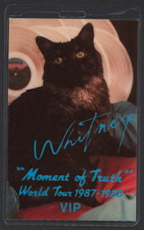 ##MUSICBP0190 - Rare Whitney Houston Laminated OTTO VIP Backstage Pass from the 1987/88 Moment of Truth Tour