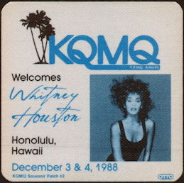 ##MUSICBP0458 - Whitney Houston OTTO Cloth Souvenir Patchfrom the 1988 Moment of Truth Tour
