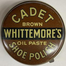 #CS487 - Full Tin of Whittemore's Cadet Oil Paste Shoe Polish - Brown