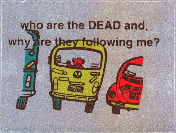 ##MUSICBP2003 - Grateful Dead Car Window Tour Sticker/Decal - Bear in VW bus