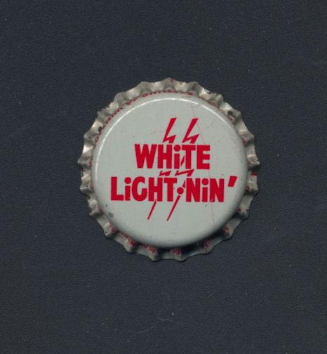 #BC149 - Group of 10 Cork Lined White Light Nin' Soda Bottle Cap