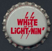 #BC149 - Group of 10 Cork Lined White Light Nin' Soda Bottle Cap
