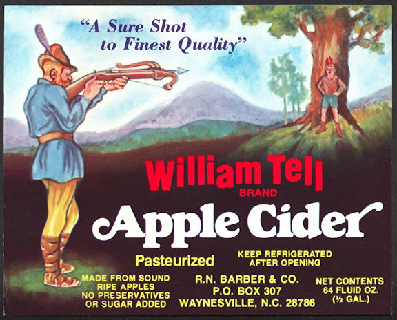 #ZBOT418 - William Tell Apple Cider Bottle Label